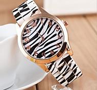 relógio de pulso à prova d'água rosquinhas das mulheres rodada leopardo grãos silicone Dial banda de quartzo analógico (cores sortidas)