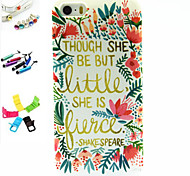 Flower Boxes Pattern Stylus Anti-Dust Plug and Stand TPU Material for iPhone 5/5S