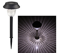 Plastic 1-LED Whte Solar Lawn Light Pathway Garden Lamp