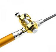 tambor pena roda vara de pesca forma + carretel set 1m de ouro