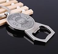 Zinc Alloy  Compass Shaped Bottle Opener & Key Chain