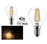 2 Stück ONDENN E14 4 COB 400 LM Warmes Weiß G45 edison Vintage LED Glühlampen AC 220-240 V