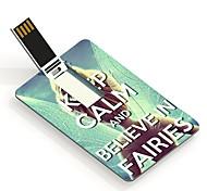 16gb guarda calma y creer en las hadas tarjeta de diseño de una unidad flash USB