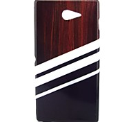 Wood Floors Pattern Soft TPU Case for Sony Xperia M2