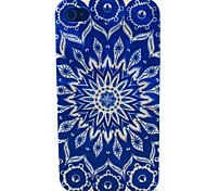 Sun Flower Pattern TPU Soft Case for iPhone 4/4S