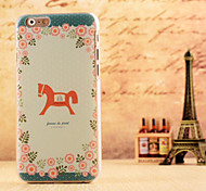Little Horse Pattern Dermatoglyph Hard Case Cover for iPhone 6