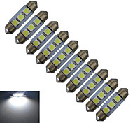 1W Festoon Luces Decorativas 3 SMD 5050 60lm lm Blanco Fresco DC 12 V 10 piezas