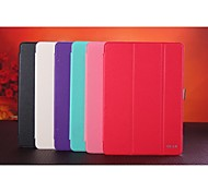 High Quality Genuine Leather  Auto Sleep/Wake Up Solid Color for  iPad 6 (Assorted Colors)
