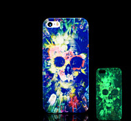 Skull Pattern Glow in the Dark Cover for iPhone 4 / iPhone 4 S Case