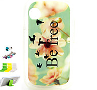 Small Yellow Flowers Pattern TPU Material Protective Shell for Wiko Ozzy