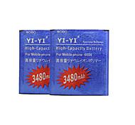 batteria di ricambio - I9500 - 3480 - Samsung - iPhone 4s/Samsung i9500 S4 - con caricabatterie