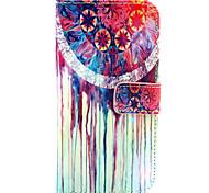 дизайн перезвон ветра PU кожаный чехол подставка с слотом для карт Samsung Galaxy E5 / E5000