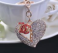 Fashion Peach Heart Key Chain