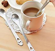 Children's Smiling Face Shape Metal Spoon