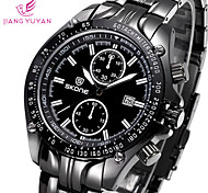 Complete Calendar Water-Resistant Watches Men Luxury Analog Quartz Brand Watch Casual Stainless Steel Wristwatches