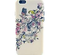 Butterfly Skull Pattern TPU Soft Case for iPhone 5C