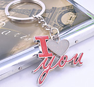 Zinc Alloy I LOVE YOU Key Chain