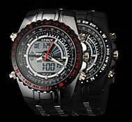 New fashion men's business double movement movement waterproof anti fall large dial watches LCD BWL584