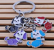 Unisex temporary keychain lovely multicolor pet alloy key chain