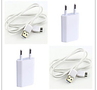 EU Plug Micro USB ABS Charger Kit For Samsung Note3/4 and S5
