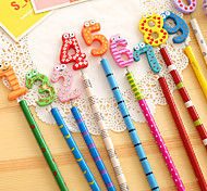 Number Wooden Pencil Set(10 PCS)