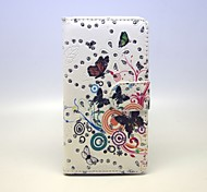 Flowers And Butterflies Patterns PU Leather Full Body Case with Stand and Card Slot forSamsung Galaxy A7