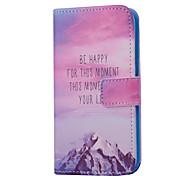 Снежная гора шаблон PU кожаный чехол для всего тела с слотом для карт Samsung Galaxy S5 мини