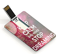 Nunca pare de sonhar 64gb usb flash drive cartão de design