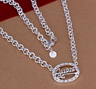 Necklace Pendant Necklaces Jewelry Wedding / Party / Daily / Casual Fashion Silver Plated Silver 1pc Gift