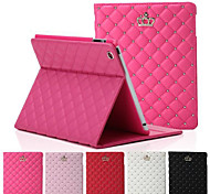 Crown Rhombus Diamond Leather Case Cover Stand for Apple iPad Air(Assorted Colors)