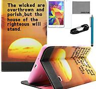 caso padrão sunrise coco couro pu Coco fun® com filme e cabo USB e caneta para Samsung Tab 7.0 4 T230