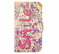 Cartoon Painting PU Leather Full Body Case with Kickstand for Samsung Galaxy S3/S3 mini/S4/S4 mini/S5 mini/S6/S6 Edge