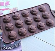 volto moda del silicone muffa cioccolato gelatina budino decorazione attrezzi della torta cucina bakeware cucina (colore casuale)