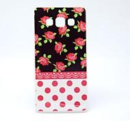 schwarz von kleinen roten Blumen-Muster-TPU Papiereinband für Samsung-Galaxie a5