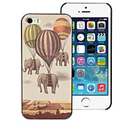 Fire Balloon and Elephant Design PC Hard Case for iPhone 4/4S