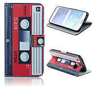Tape Pattern PU Leather Full Body Case with Card Slots And Stand Case for  Samsung Galaxy S6