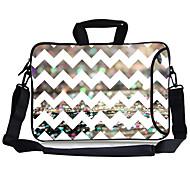 "Elonbo Fashion Chevron Carrying Handle & Removable Shoulder Strap Laptop Bag for 13"" Macboob pro HP"