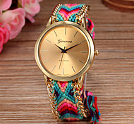 Women Big Circle Dial  National Hand Knitting Brand Luxury Lady Watch C&D-278 Cool Watches Unique Watches Fashion Watch