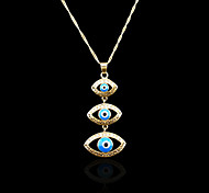 18K Real Gold Plated Evil Eye Color Pendant 2.4*5.5CM