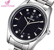 Männer Casual Uhren Männer Luxusmarke Strass Wahl weisequarzuhr Qualität elegante Stahl Armbanduhren