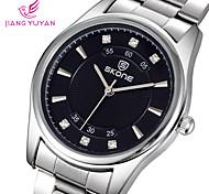 Men's Casual Watches Men Luxury Brand Rhinestone Dial Fashion Quartz Watch Quality Elegant Steel Wristwatches
