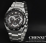CHENXI® Men's Racing Design Dress Watch Japanese Quartz Water Resistant Silver Steel Strap