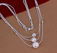 Necklace Statement Necklaces Jewelry Wedding / Party / Daily / Casual Fashion Silver Plated Silver 1pc Gift