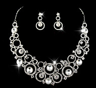 Wedding Bridal Earring Necklace Bracelets Jewelry set With Rhinestone/Crystal