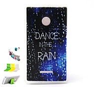 Painted Relief  Raindrop Pattern Slim TPU Material And Dust Plug Bracket Assembly for Nokia Microsoft Lumia 435