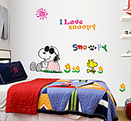 Lovely Snoopy PVC Wall Stickers Wall Art Decals