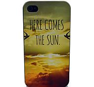 patrón de la salida del sol caja de plástico duro para el iphone 4 / 4s
