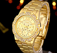 Men's Military Watch Quartz Analog Gold Alloy Band