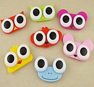 cas de grands yeux en forme de drôles de bonbons couleur de la lentille de cantact (couleur aléatoire)