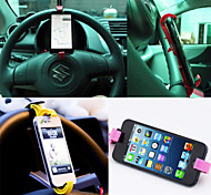 Universal Car Steering Wheel Holder for iPhone 5/5S/5C/6 and Other Phones(Assorted Colors)